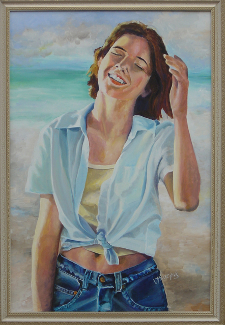 kate at the beach
