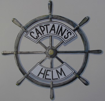 CAPTAIN'S HELM MURAL