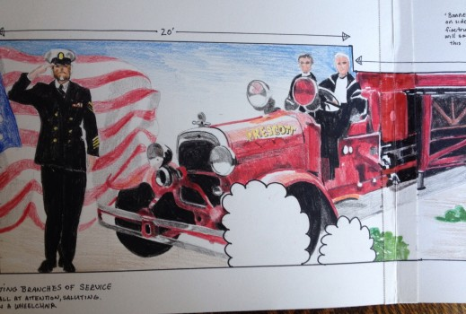 Prelim for Heroes mural