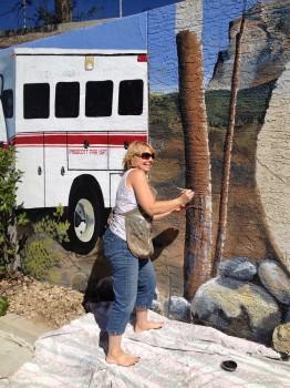 Cindy turning Birch into Pine!